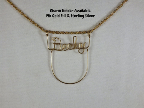 Name Necklace Charm Holder Add On - Bestwire Jewelry