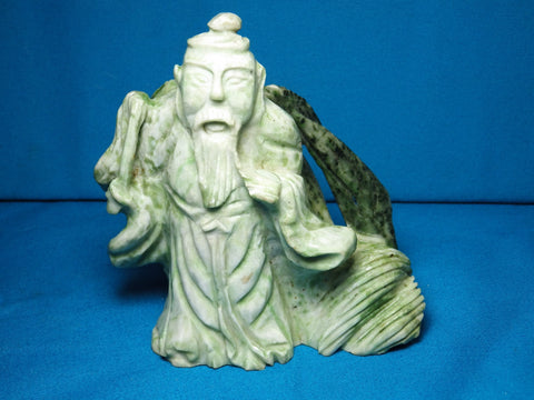 Buddha Like Figurine Carved In Jade - Bestwire Jewelry