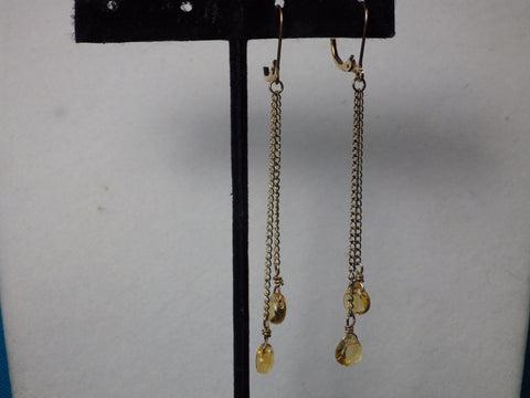 Faceted Citrine with 14k Gold Fill Dangle Earrings - Bestwire Jewelry