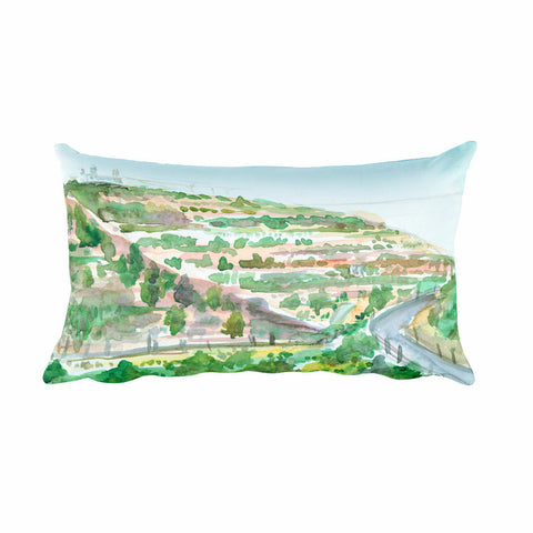 Walking on my forefather's way. Original Painting on your Pillow