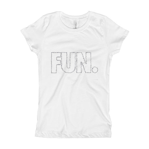 FUN. outlined with songs on Girl's T-Shirt