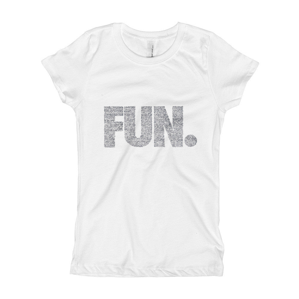 FUN. filled with songs on Girl's T-Shirt
