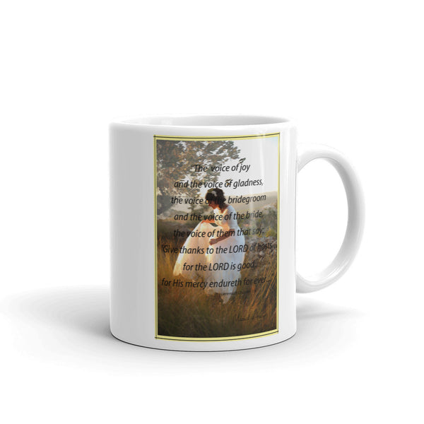 Holy Land Bride 'Give thanks to the LORD', Mug