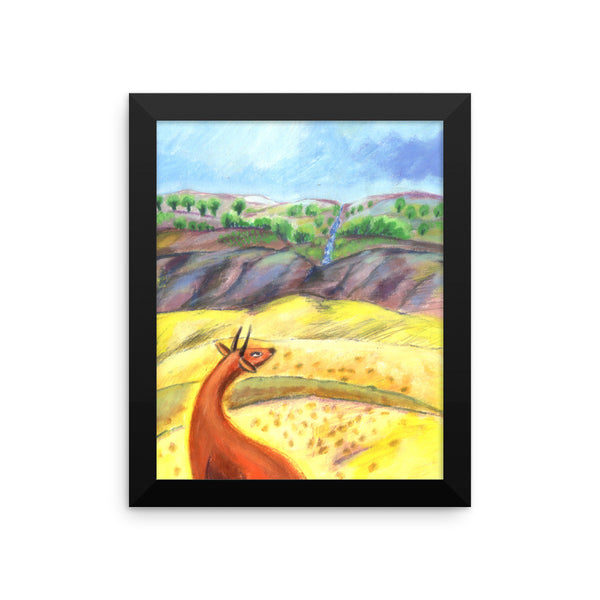 The mountain of Zion, Framed Poster