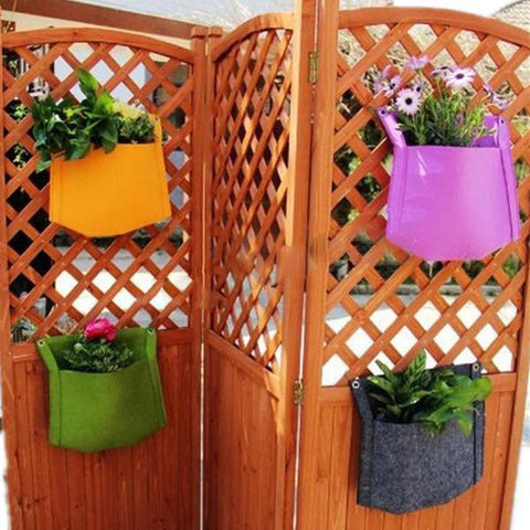 Hanging planter bag for Holy Land organic herbs