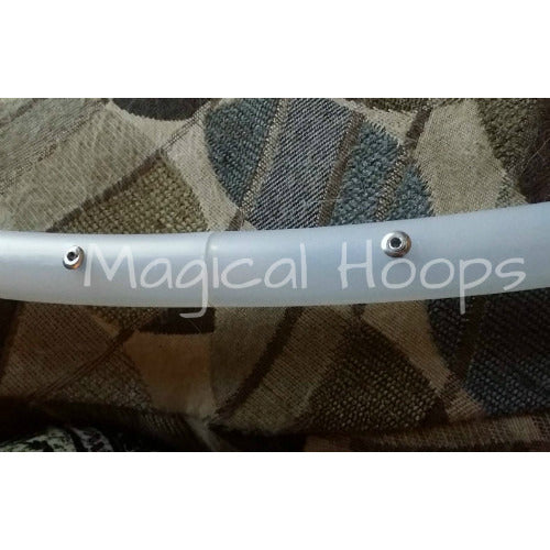 5/8 and 3/4 clear tubing polypro hula hoop (beginner and practice hoops)