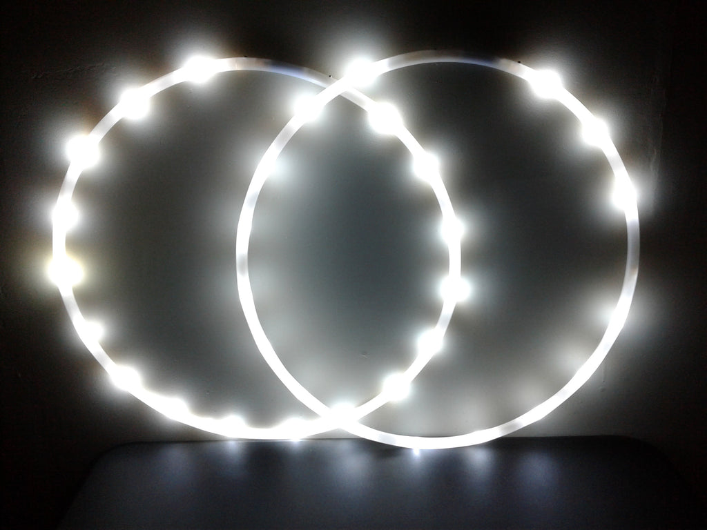 LED Double Hoops Mini: All white or all UV