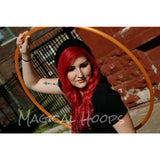 Translucent Orange custom 3/4 bare polypro hula hoops