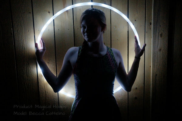 All white or all blacklight LED hoop