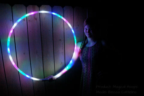Cotton Candy LED Light Up Hula Hoop