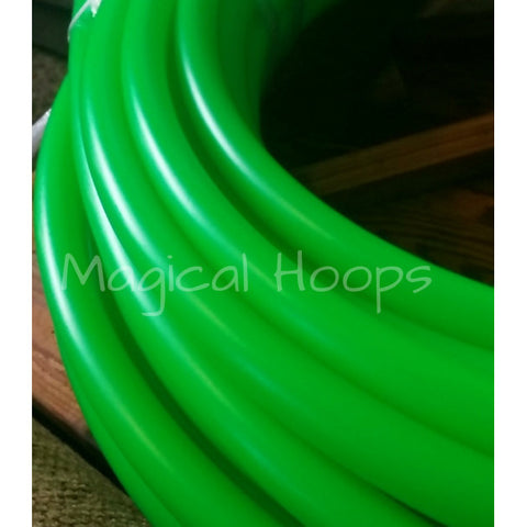 UV lime green 3/4 custom polypro hula hoop
