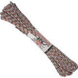 Spider Cord 600 Lb Paracord 100 Ft - Silver, Cardinal Red, Orange And Brown Design