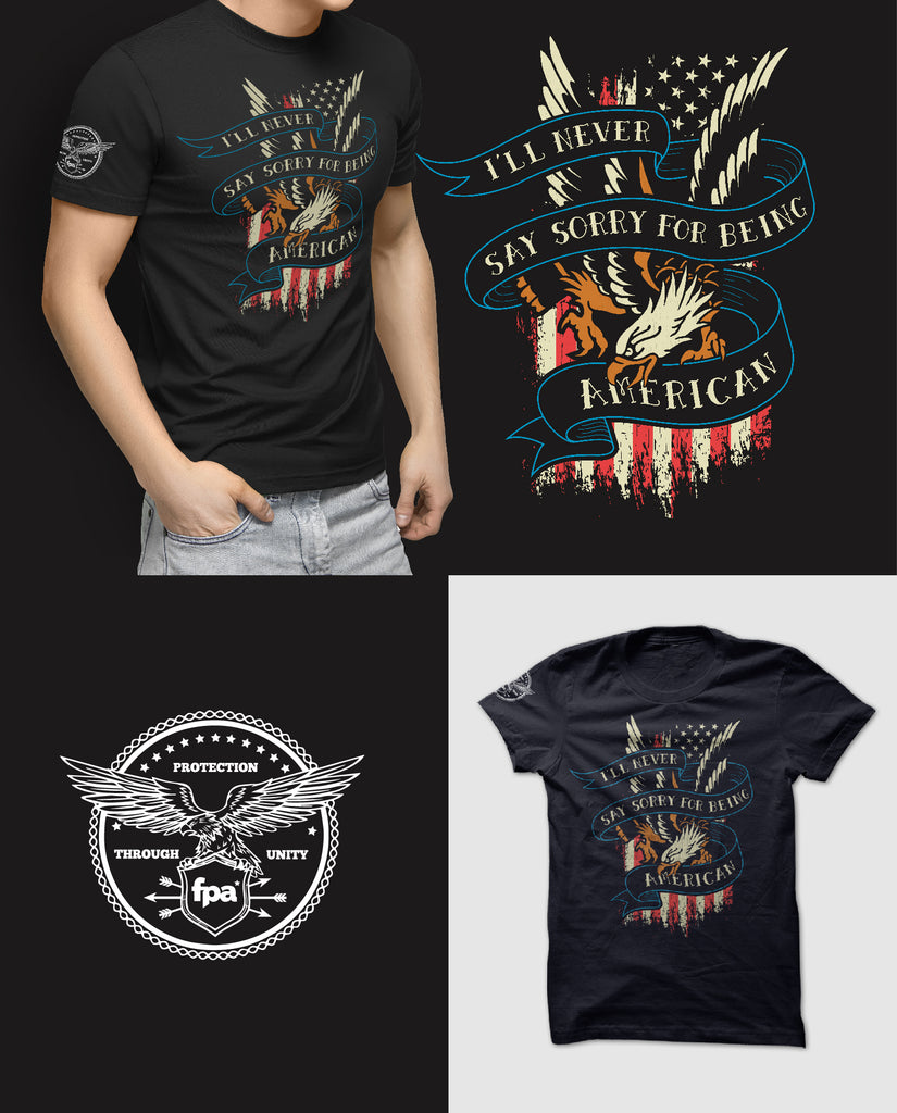 Survival Life Store | Never Sorry Eagle T-Shirt