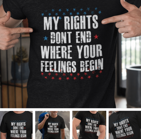 My Rights Don't End Patriotic T-Shirt