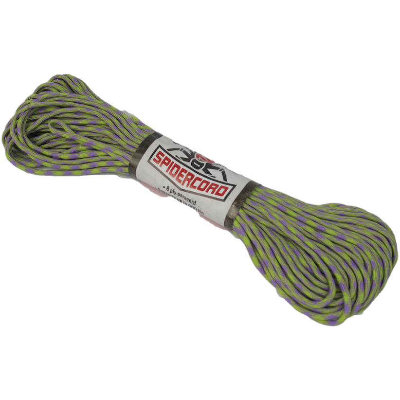 Survival Life Store | Spider Cord 600 Lb Paracord 100 Ft-Lilac And Lime Green Design