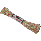 Spider Cord 600 Lb Paracord 100 Ft- Lime Green, Cardinal Red And  White Design
