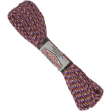 Spider Cord 600 Lb Paracord 100 Ft - Orange, Purple And White Design