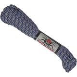 Spider Cord 600 Lb Paracord 100 Ft - Azure Blue And Gray Thick Spiral