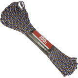 Spider Cord 600 Lb Paracord 100 Ft - Caramel Brown, Navy Blue, Black And Classic Gray Design
