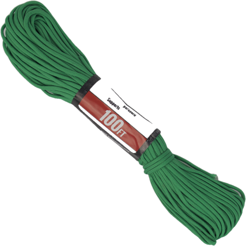 Survival Life Store | Spider Cord 600 Lb Paracord 100 Ft-Green