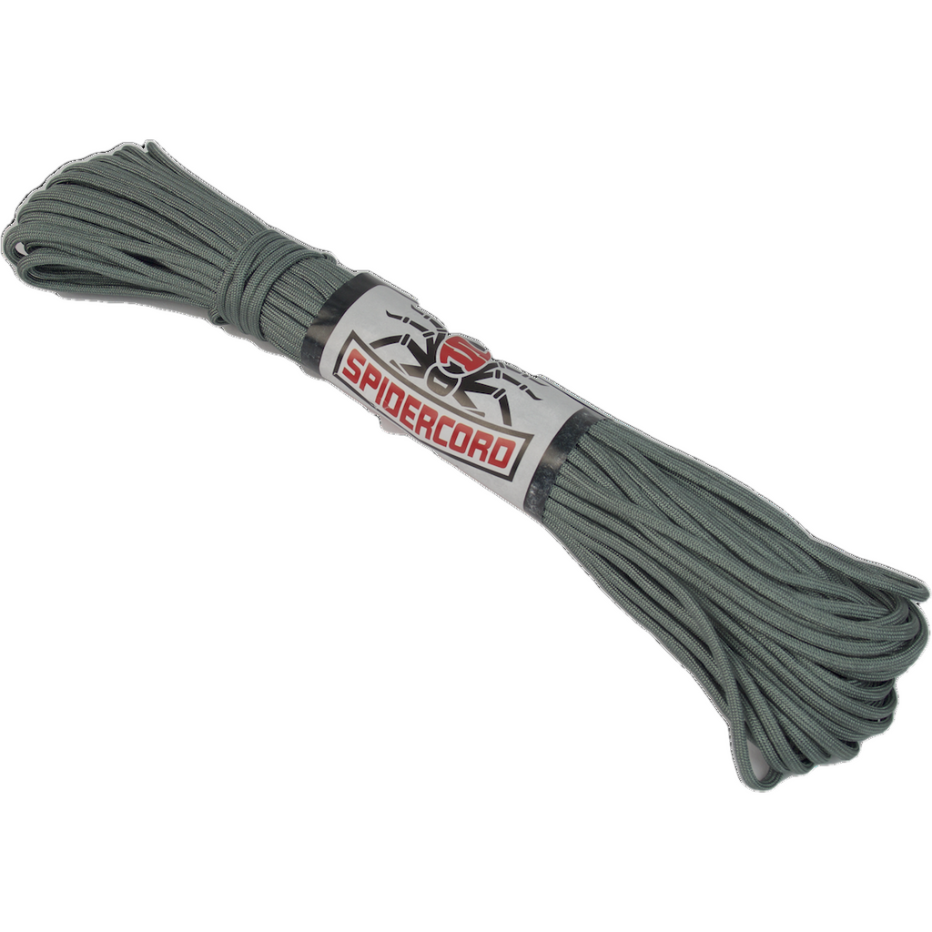 Survival Life Store | Spider Cord 600 Lb Paracord 100 Ft -Ashen-Grey