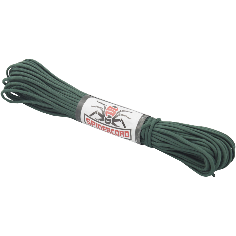 Spider Cord 600 Lb Paracord 100 Ft -Pine