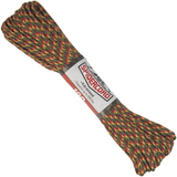Spider Cord 600 Lb Paracord 100 Ft - Juniper Green, Cardinal Red And Canary Yellow Design