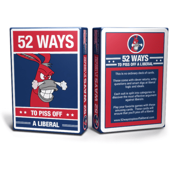 Survival Life Store | Piss Off A Liberal Playing Cards