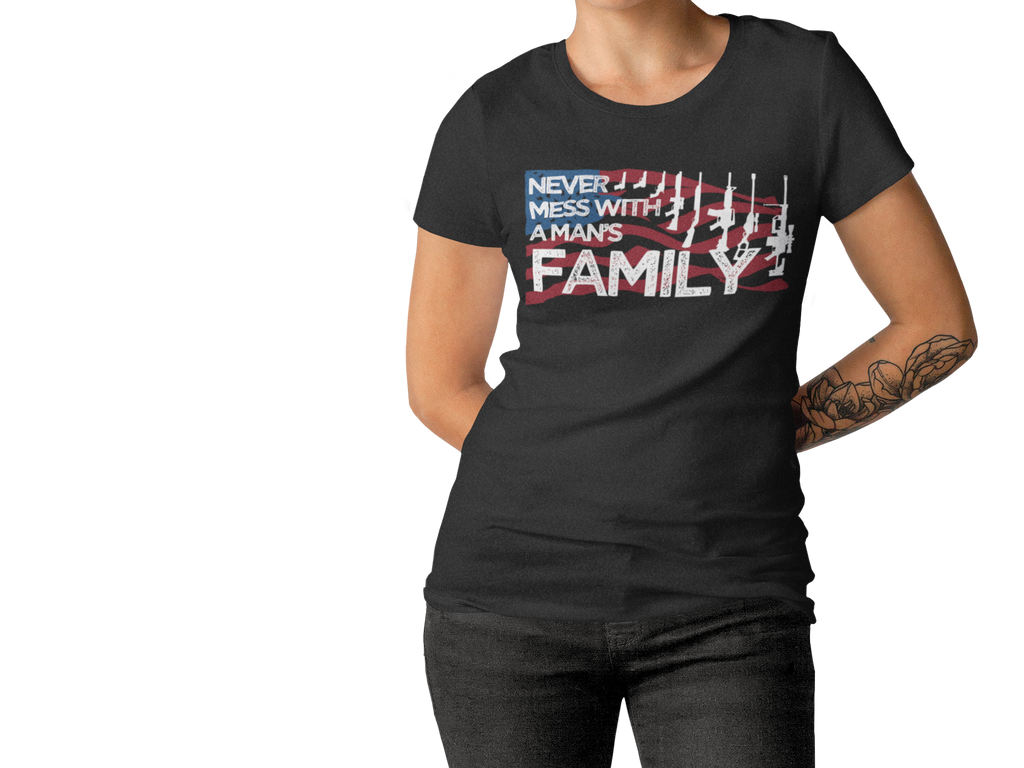Never Mess With A Man's Family T- Shirts