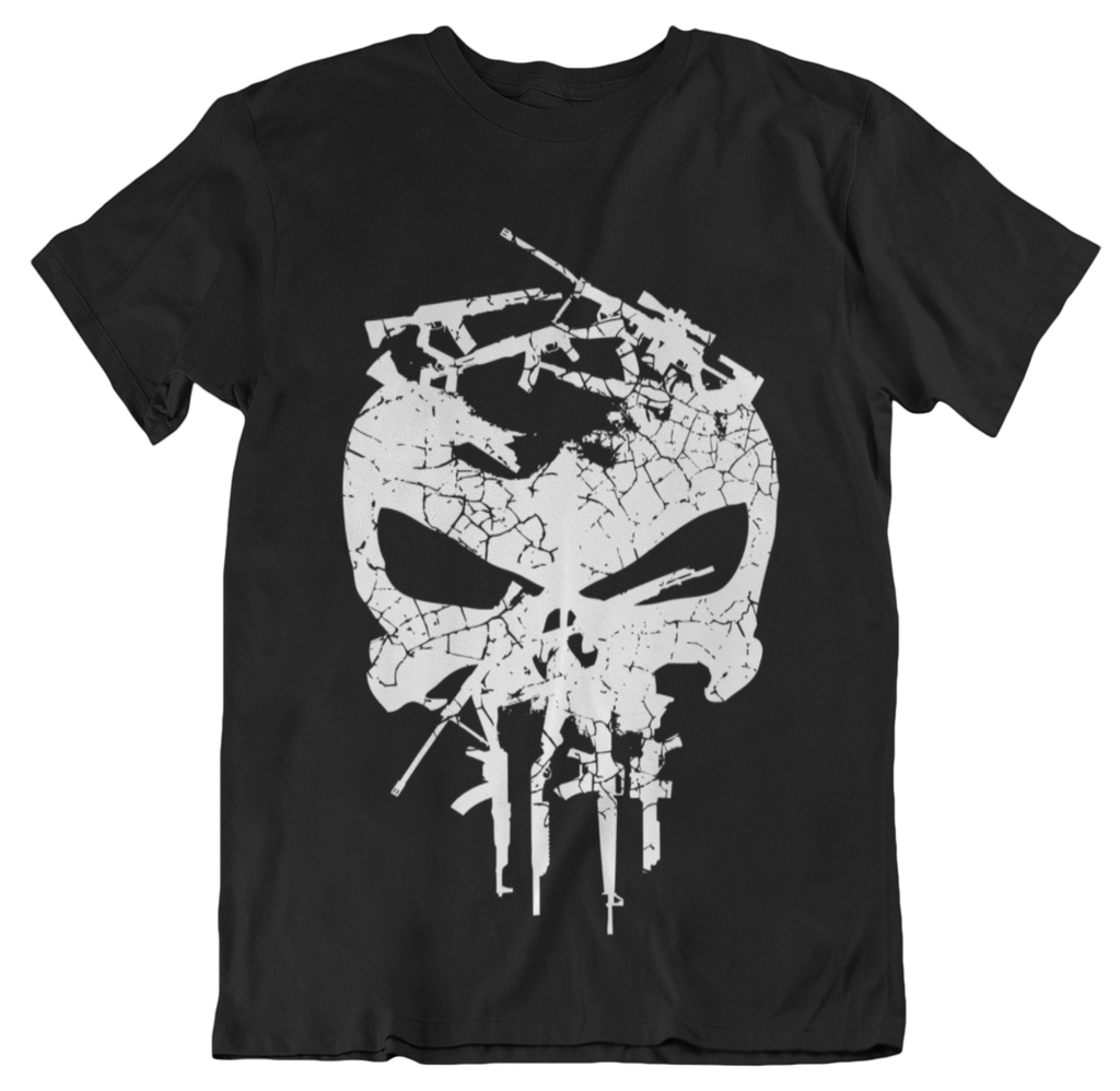 Gunisher White T-Shirt