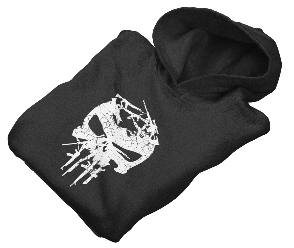 Survival Life Store | Gunisher White Hoodie