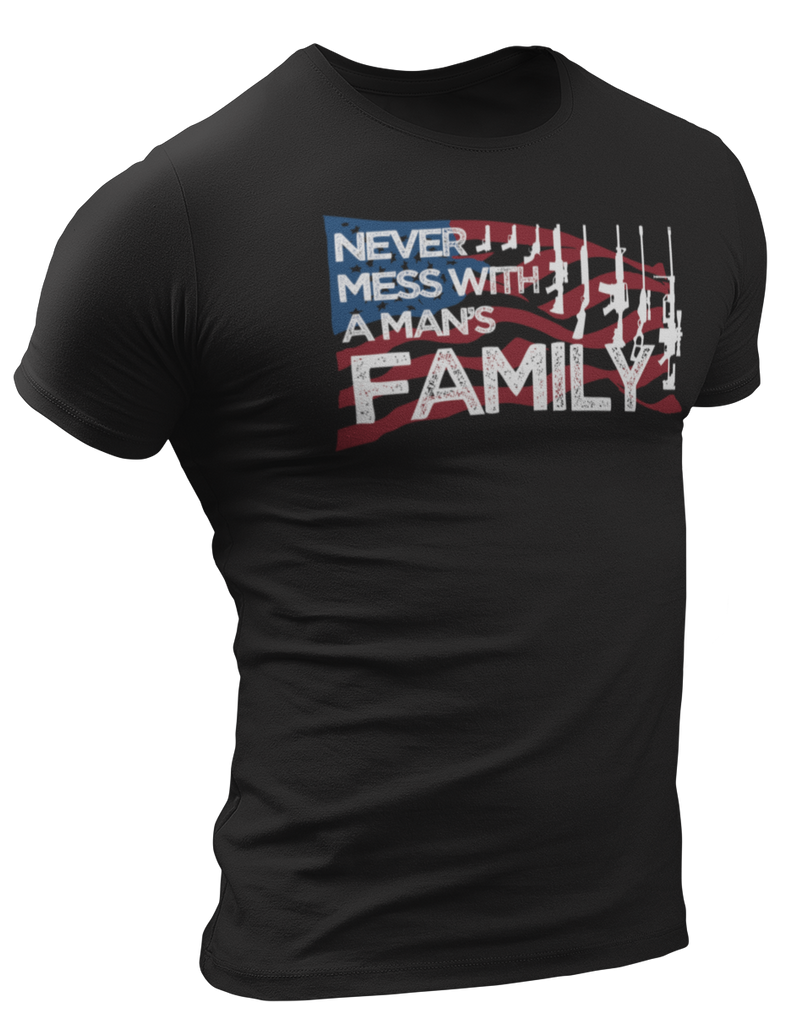 Survival Life Store | Never Mess With A Man's Family T- Shirt