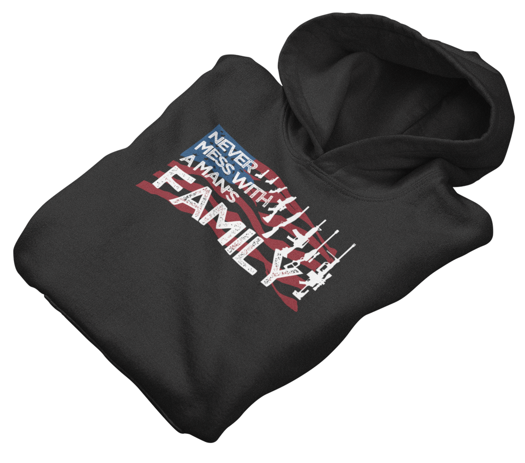 Survival Life Store | Never Mess With A Man's Family Hoodie