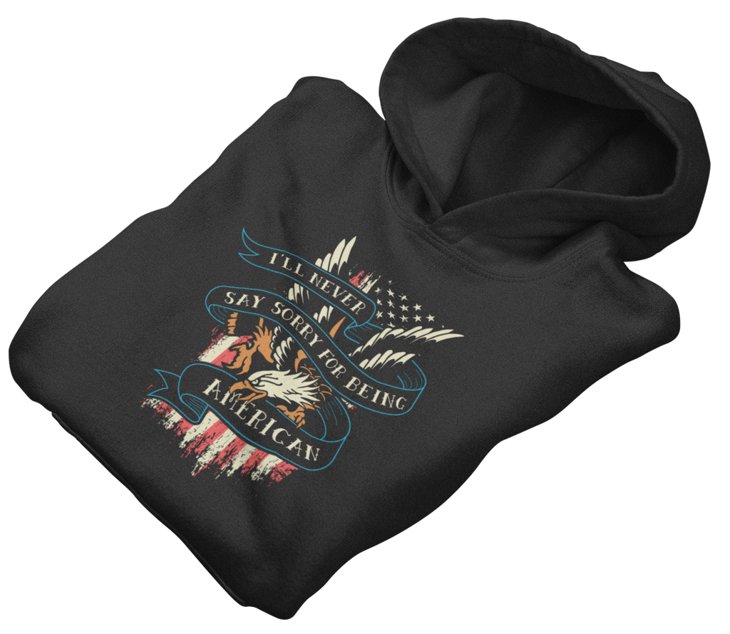 Survival Life Store | Never Sorry Eagle Hoodie