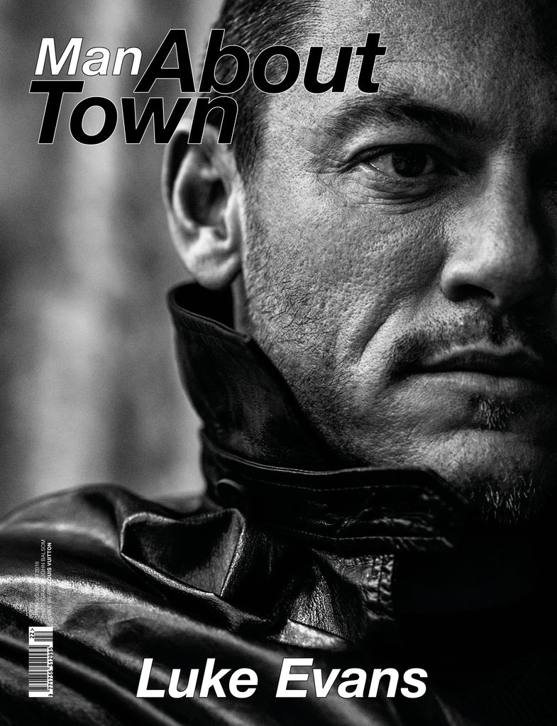 MAN ABOUT TOWN MAGAZINE SS18 LUKE EVANS COVER