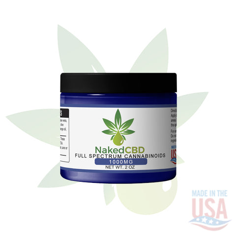 1000mg CBD Relief Balm 2oz Jar- NakedCBD