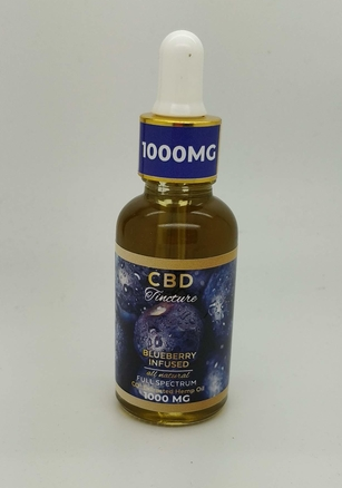 1000mg Blueberry Full Spectrum Element CBD Tincture 30ml - Fuggin Hemp Co