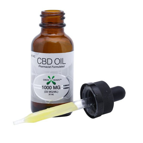 1000mg Total CBD Oil Vape/Tincture 30ml - Green Roads