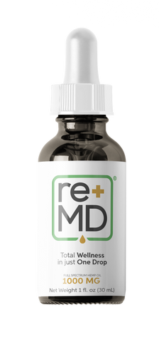 1000mg Pure Full Spectrum Hemp Oil Tincture - reMD Wellness