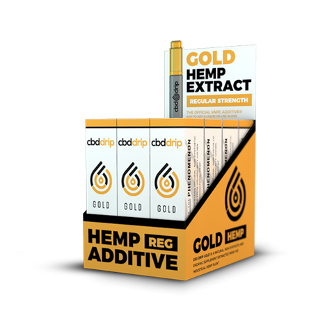 14.5mg CBD Gold Vape/Drip Additive 7ml Bottlel/12ct Box  - CBD Drip