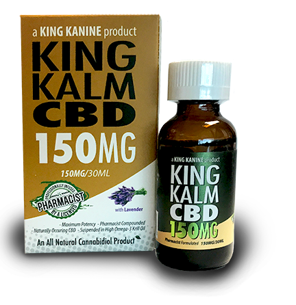 150mg King Kalm CBD Extra Strength 30ml - King Kanine