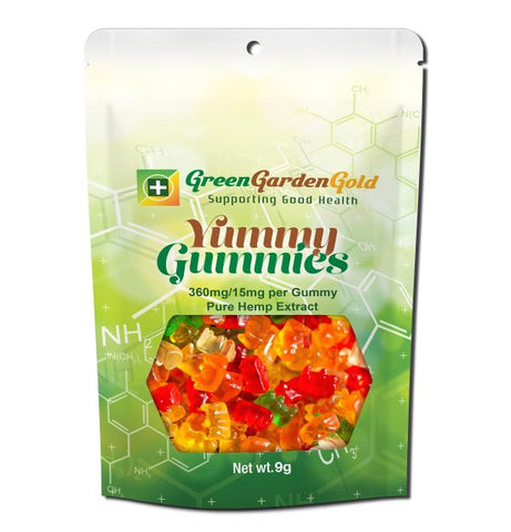 360mg CBD Yummy Gummies 24ct Bag - Green Garden Gold