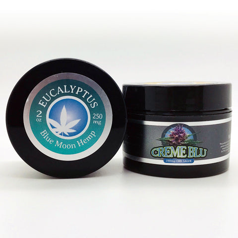 250mg Eucalyptus CBD Salve 2oz Jar - Blue Moon Hemp