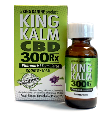 300mg King Kalm CBD Pro Strength 30ml - King Kanine