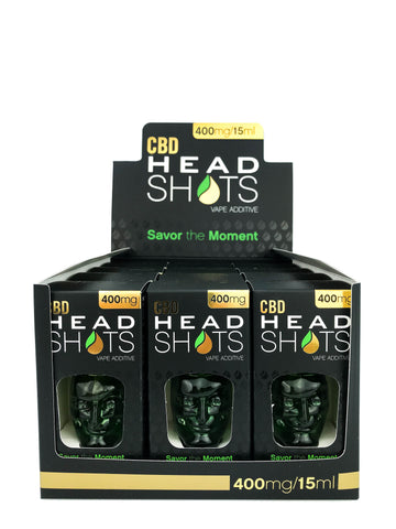 400mg CBD HeadShots 12Pk Vape Additive/Tincture 15ml - Fusion Brands