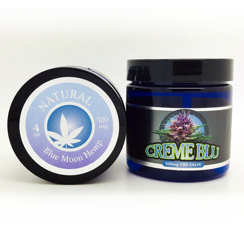 500mg Natural CBD Salve 4oz Jar - Blue Moon Hemp
