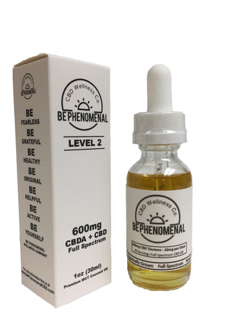 600mg Full Spectrum CBD Tincture 30ml - Be Phenomenal Wellness Company