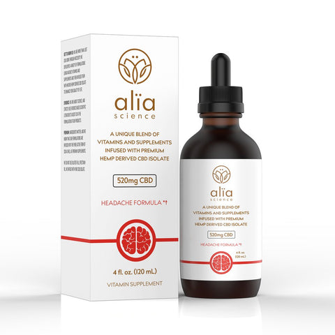 520mg CBD Headache Formula (4oz.) - Alia Science