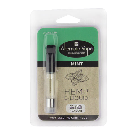 250mg CBD Mint Flavor Vape Oil Cartridge 1ml- Alternate Vape