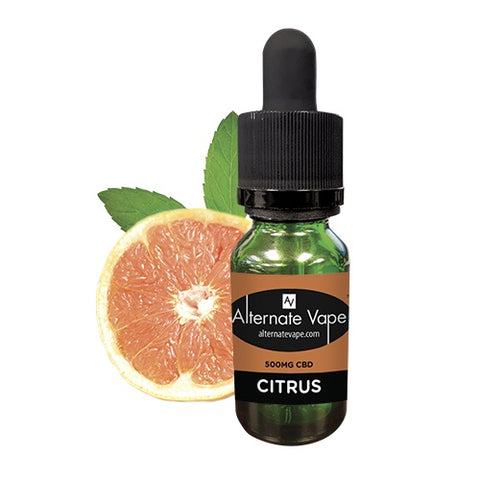 500mg CBD Citrus Flavor E-Liquid 15ml - Alternate Vape